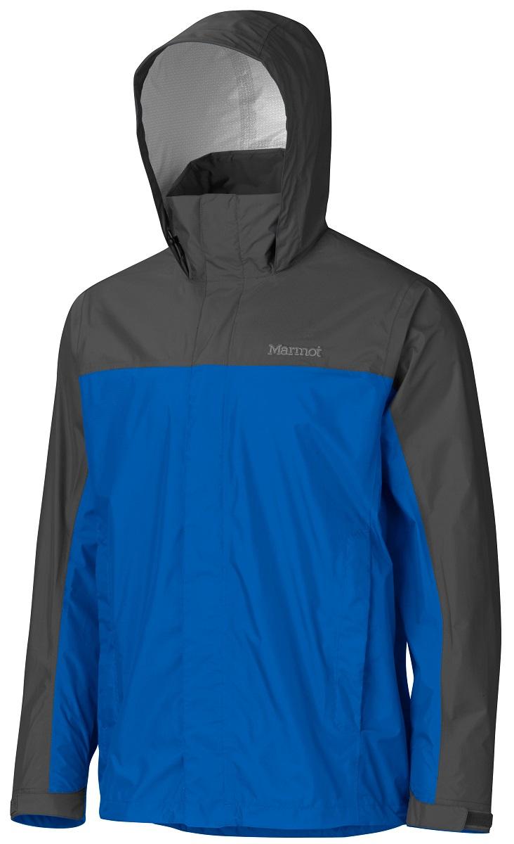 Дождевик мужской Marmot PreCip Jacket, цвет: синий, серый. 41200-2900. Размер XL(52/54)41200-2900Дождевик PreCip Jacket - станет Вашей надежной защитой в любую непогоду, где бы Вы не находились: вдали от цивилизации или в городских условиях. Легкий функциональный дождевик на межсезонье. Незаменимая вещь весной, летом и ранней осенью. Технология PreCip™ Dry Touch - водостойкий, дышащий материал, 100% водонепроницаемые швы. Легко упаковывается в собственный карман. Особенности: Технология PreCip™ Dry Touch - водостойкий, дышащий материал, 100% водонепроницаемые швы, капюшон имеет возможность хорошего обзора и при необходимости убирается в воротник|PitZips™ - двусторонние молнии в районе подмышек обеспечивают отличную вентиляцию Pack Pockets™ - полувертикальные нагрудные карманы, которыми удобно пользоваться даже с рюкзаком на спине, двойная штормовая планка на передней молнии с застежкой-липучкой Velcro.