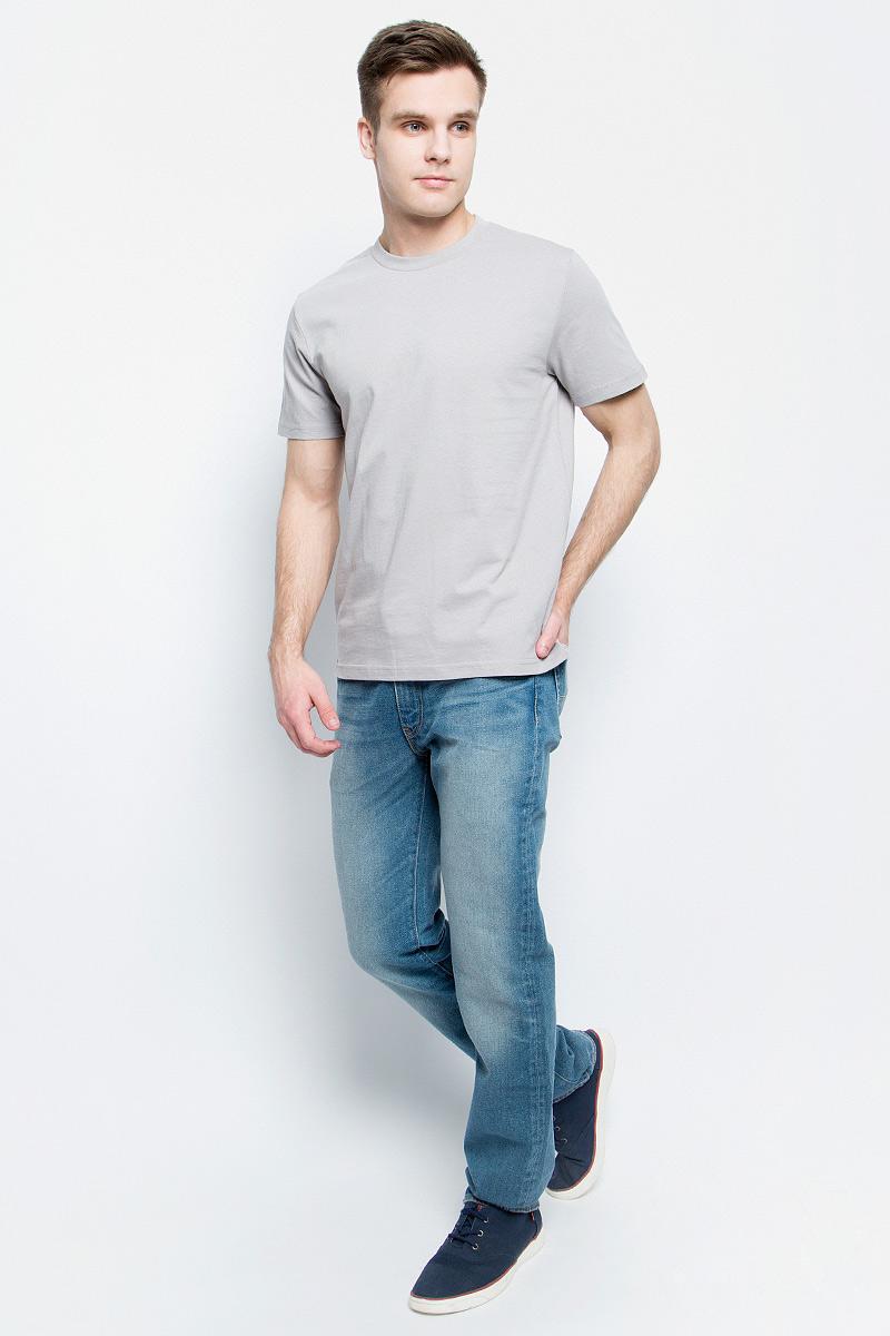 Футболка мужская StarkСotton, цвет: светло-серый. 6211. Размер L (50/52)6211Мужская футболка StarkСotton выполнена из натурального хлопка. Модель с круглым вырезом горловины и короткими рукавами удобна для повседневной носки, а также подходит для занятий спортом.
