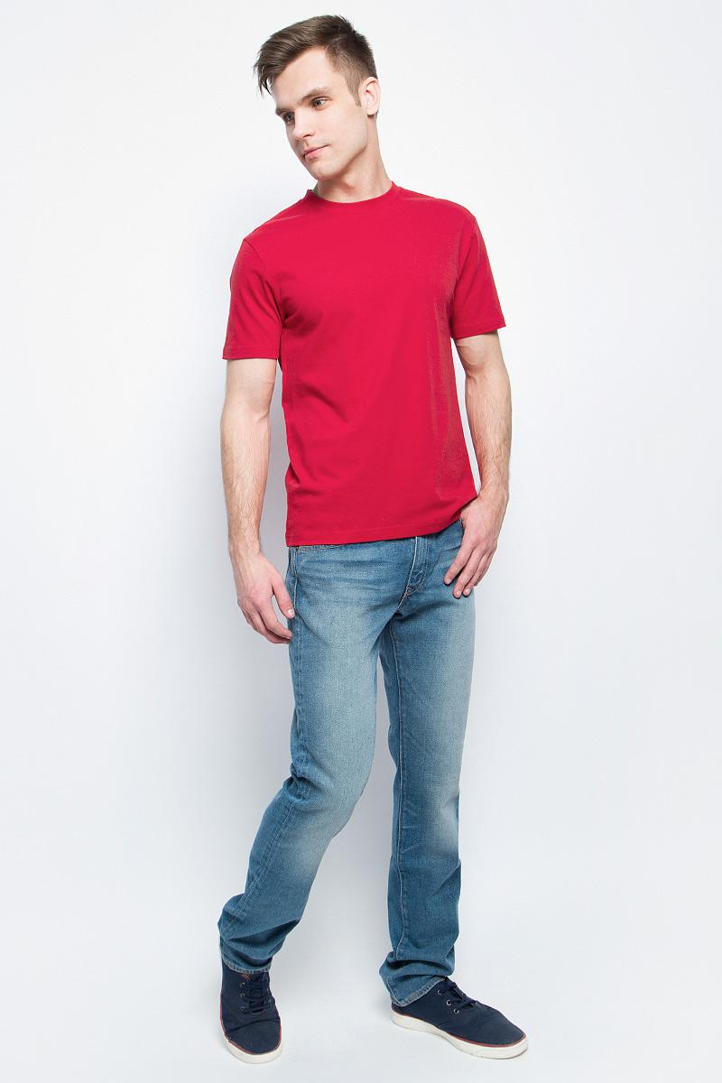 Футболка3214Мужская футболка StarkСotton выполнена из натурального хлопка. Модель с круглым вырезом горловины и короткими рукавами удобна для повседневной носки, а также подходит для занятий спортом.