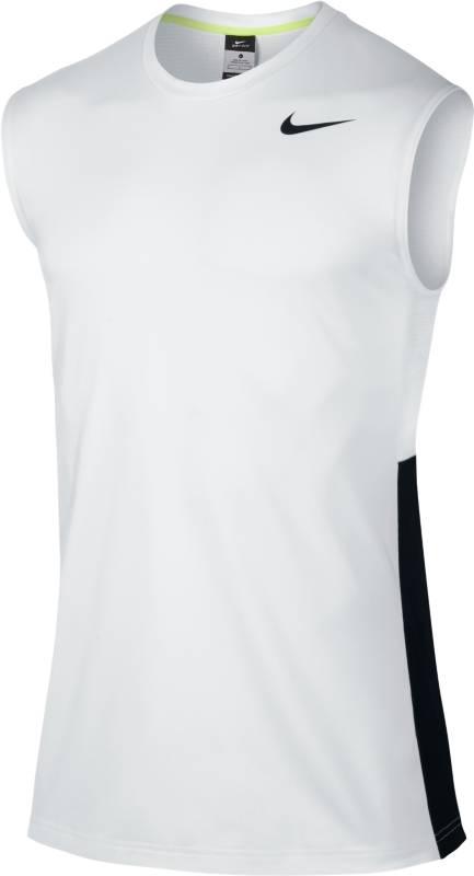 Майка641419-100Майка Nike Crossover Sleeveless из текстиля Dri-FIT, выводящего лишнюю влагу с поверхности кожи, со вставками из сетчатой ткани. Облегающий крой, круглый вырез.