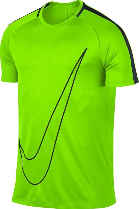 Футболка832985-336Футболка спортивная мужская Nike Dry Academy с легкостью подойдет в качестве основного слоя одежды. Модель прекрасно сидит на фигуре, благодаря прямому и свободному крою, не ограничивая активные движения спортсмена. Для пошива модели производитель использовал полиэстер отличного качества. Короткий рукав и анатомический крой делают ее удобной, футболка не задирается во время интенсивной тренировки. Круглый вырез горловины не стесняет движения. Ткань Dri-FIT отводит пот, обеспечивая сухость и комфорт. По бокам предусмотрены сетчатые вставки для усиления вентиляции. Исключает натирание кожи плоские швы, соединяющие части футболки между собой. Модель подойдет и для повседневного ношения.