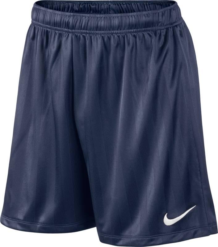 Шорты651529-410Шорты Nike Academy Jaquard Short из текстиля Dri-FIT, выводящего лишнюю влагу с поверхности кожи. Свободный крой, пояс на эластичной резинке