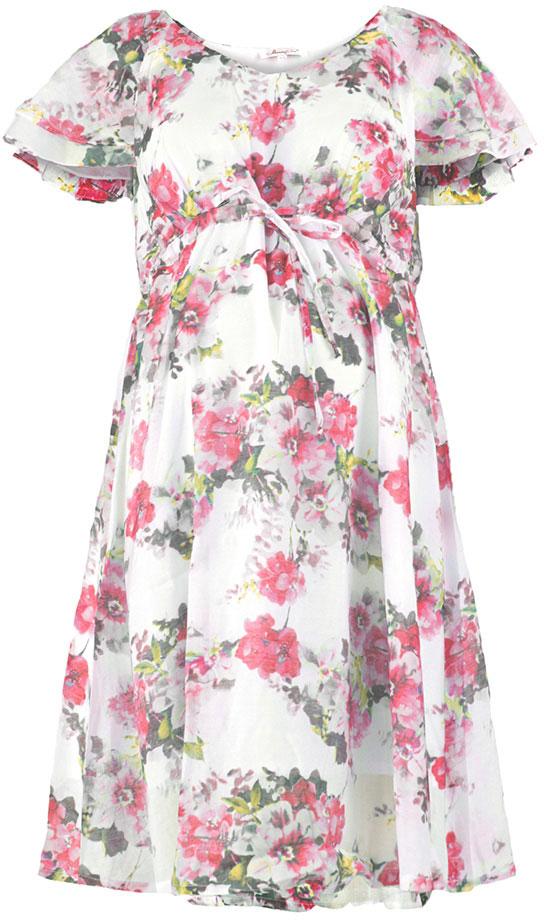 Платье512011627Платье для беременных Mammy Size выполнено из вискозы и полиэстера. Модель с круглым вырезом горловины и короткими рукавами.
