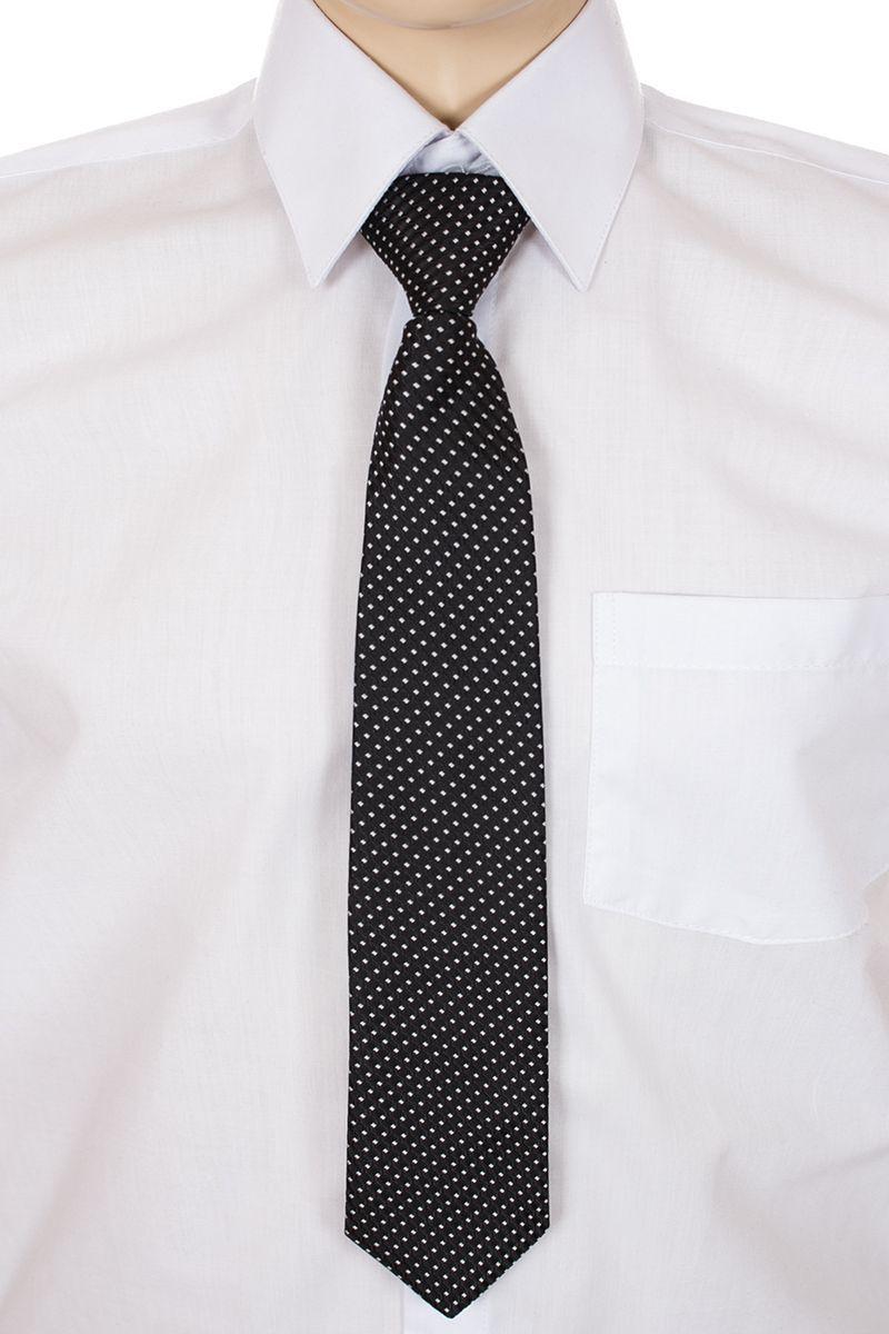 Галстук для мальчика Brostem, цвет: черный, белый. RMCAL21-21. Размер универсальныйRMCAL21-21Модный галстук для мальчика Brostem изготовлен из качественного полиэстера. Такой аксессуар придаст юному кавалеру солидности.
