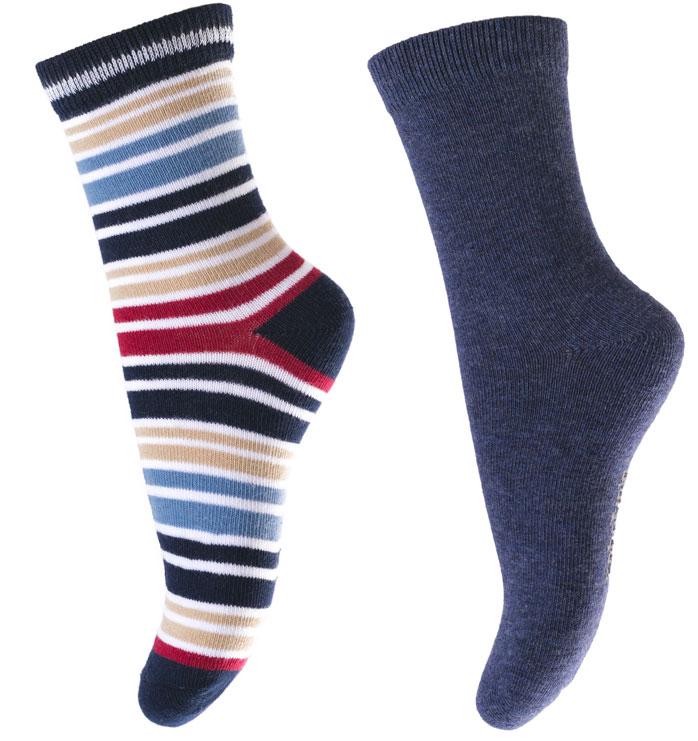 Носки для мальчика PlayToday, цвет: синий, белый, красный, 2 пары. 171032. Размер 16171032Носки для мальчика PlayToday, изготовленные из высококачественного материала, идеально подойдут вашему малышу. Эластичная резинка плотно облегает ножку ребенка, не сдавливая ее, благодаря чему малышу будет комфортно и удобно. Усиленная пятка и мысок обеспечивают надежность и долговечность.