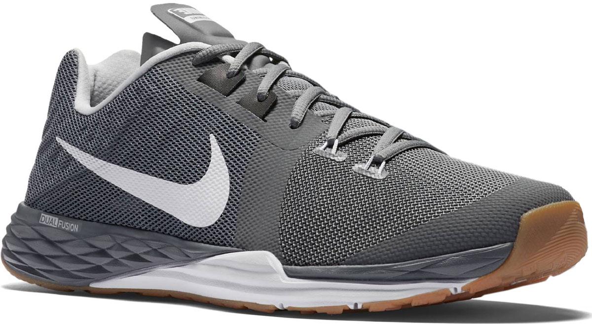 Кроссовки для бега мужские Nike Train Prime Iron Dual Fusion, цвет: серый. 832219-010. Размер 9 (42)832219-010Модные мужские кроссовки Train Prime Iron Dual Fusion от Nike выполнены из текстиля. Подкладка из текстиля обеспечивает комфорт. Шнуровка надежно зафиксирует модель на ноге. Технология Dualfusion, используемая в промежуточной подошве, объединяет материал EVA двух разных плотностей, что обеспечивает превосходную амортизацию и поддержу. Стелька из специального материала Phylon для мягкой амортизации, легкости и поддержки. Резиновая подошва с протектором для износостойкости и надежного сцепления с поверхностью.