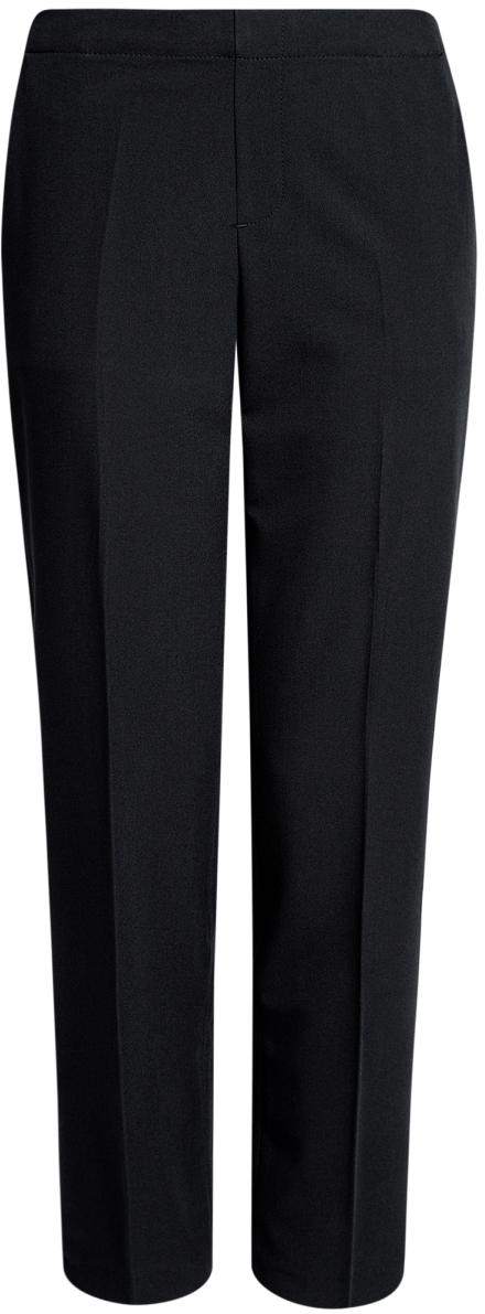 Брюки11706203-1/19887/2900NЖенские укороченные брюки oodji Ultra выполнены из высококачественного материала. Модель стандартной посадки. Сзади пояс дополнен эластичной вставкой.