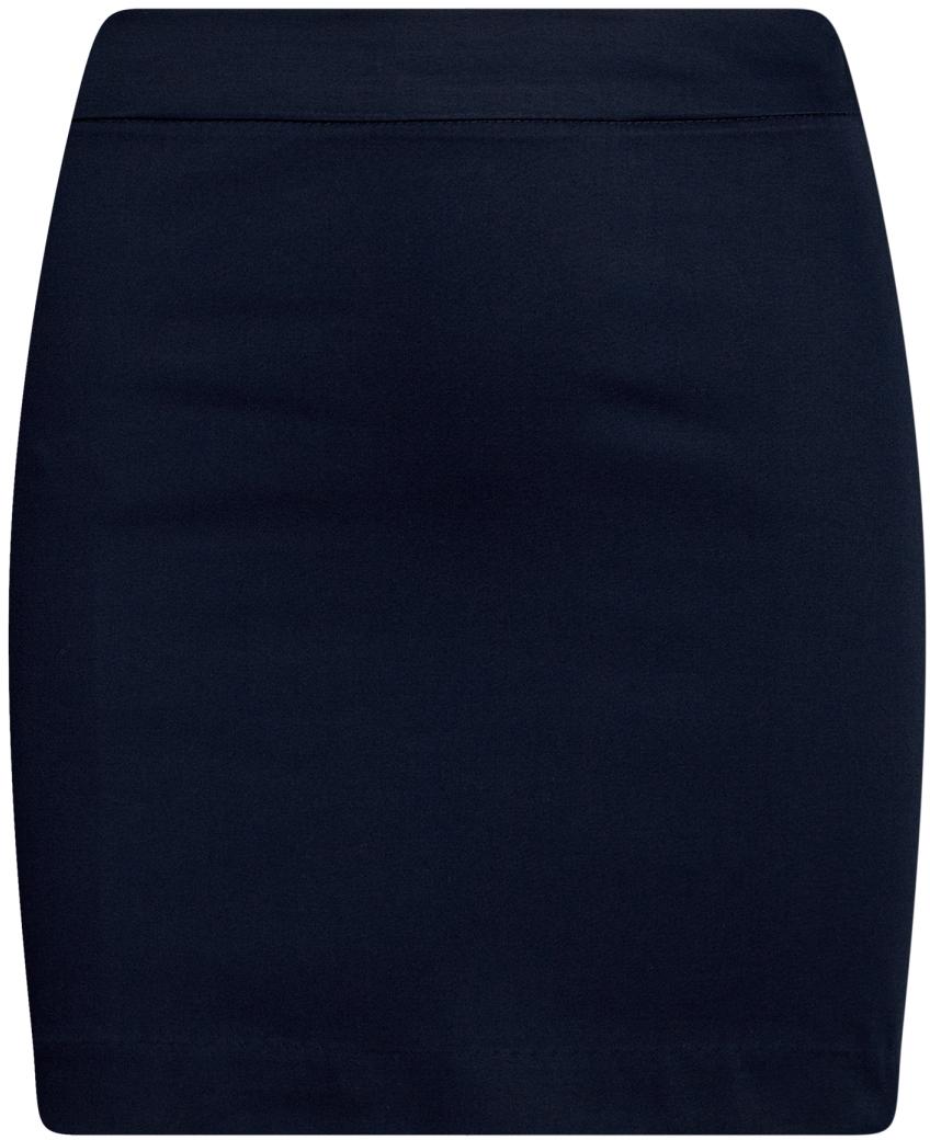 Юбка oodji Ultra, цвет: темно-синий. 11601179-11B/42307/7900N. Размер 42-170 (48-170)11601179-11B/42307/7900NЮбка мини из хлопковой ткани