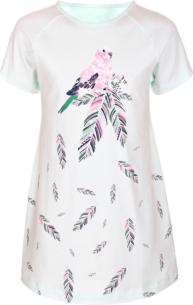 Ночная рубашка для девочки Baykar, цвет: зеленый, мультиколор. N9324240B-13. Размер 128/134N9324240B-13Ночная рубашка для девочки Baykar подарит не только комфорт и уют, но и понравится ребенку благодаря своему веселому и приятному дизайну. Изготовленная из мягкого хлопка, она тактильно приятна, хорошо пропускает воздух, а благодаря свободному крою не стесняет движений во сне.