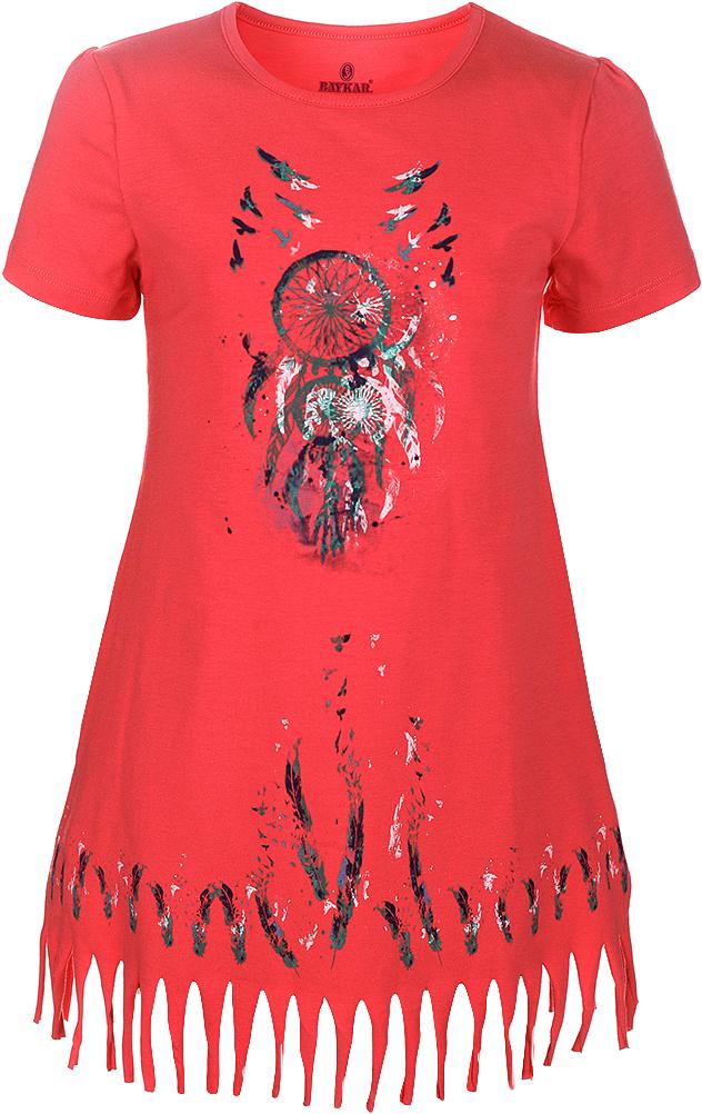 Ночная рубашка для девочки Baykar, цвет: фуксия, мультиколор. N9321219B-91. Размер 140/146N9321219B-91Ночная рубашка для девочки Baykar подарит не только комфорт и уют, но и понравится ребенку благодаря своему веселому и приятному дизайну. Изготовленная из мягкого хлопка, она тактильно приятна, хорошо пропускает воздух, а благодаря свободному крою не стесняет движений во сне.