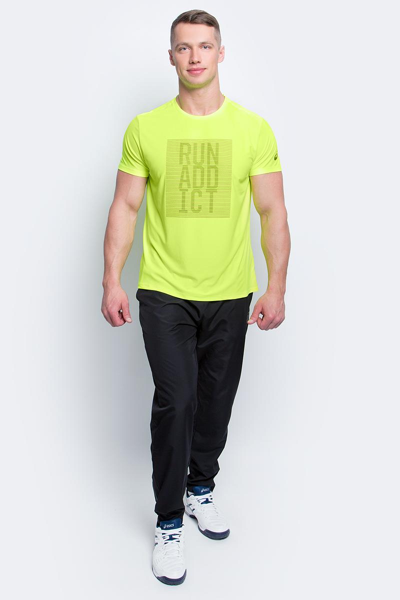 Футболка для бега мужская Asics Graphic SS Top, цвет: неоново-желтый. 134085-0392. Размер M (48/50)134085-0392Мужская футболка для бега Asics Graphic SS Top, выполненная извысококачественного полиэстера с применениемтехнологии Motion Dry, обладает высокой воздухопроницаемостью, а также превосходноотводит влагу от тела, оставляя кожу сухой даже во время интенсивных тренировок. Такаяфутболка великолепно подойдет как для повседневной носки, так и для спортивных занятий.Комфортные плоские швы исключают риск натирания и раздражения. Модель с короткими рукавами и круглым вырезом горловины - идеальный вариант длясоздания модного спортивного образа. Футболка оригинальной надписью нагруди.