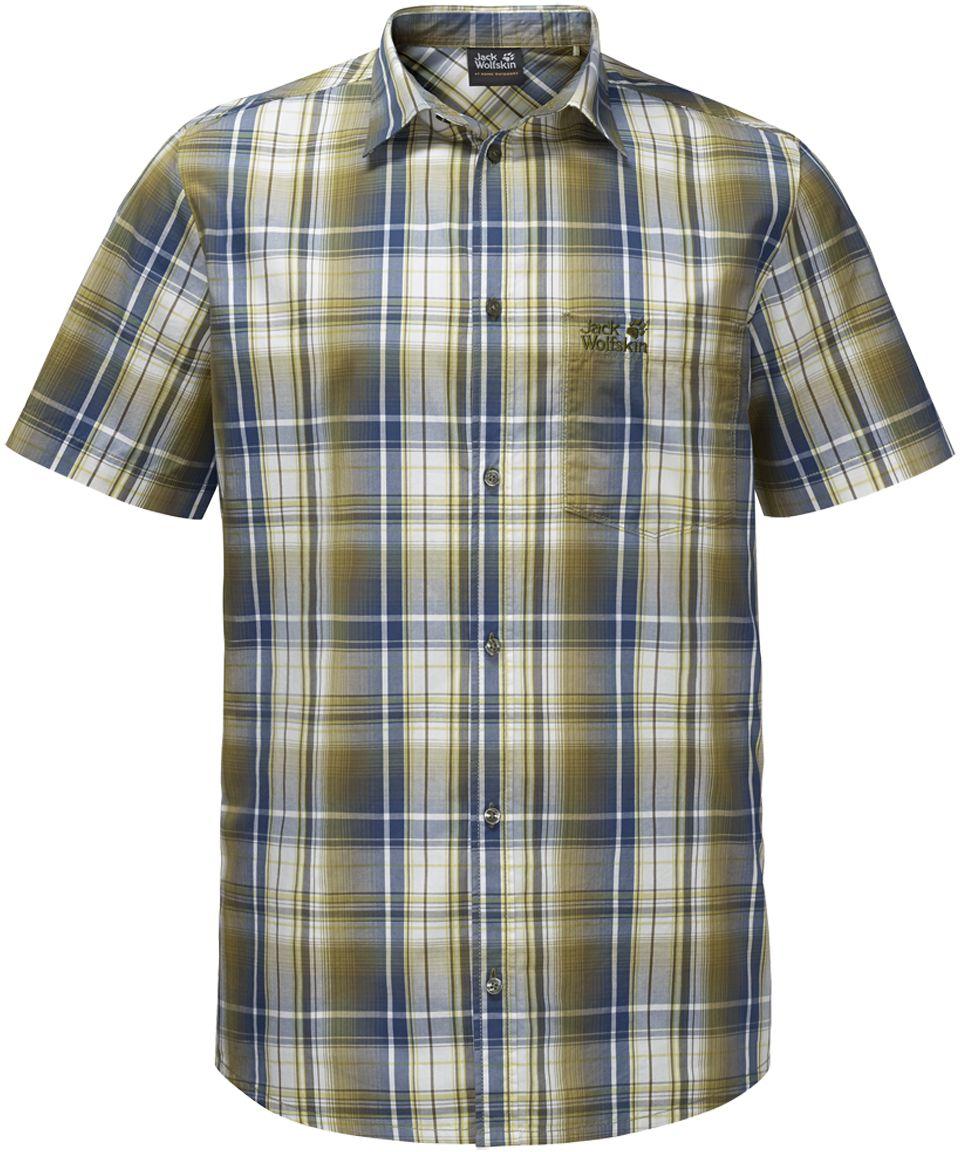 Рубашка1400244-7531Рубашка мужская Hot Chili Shirt M изготовлена из 100% натурального хлопка. В ней вы будете чувствовать себя комфортно в жаркую погоду. Модель отлично вентилируется и дает ощущение прохлады. Рубашка застегивается на пуговицы, имеет отложной воротник и короткие стандартные рукава. Спереди расположен накладной нагрудный карман. Рубашка дополнена принтом в клетку и логотипом бренда.