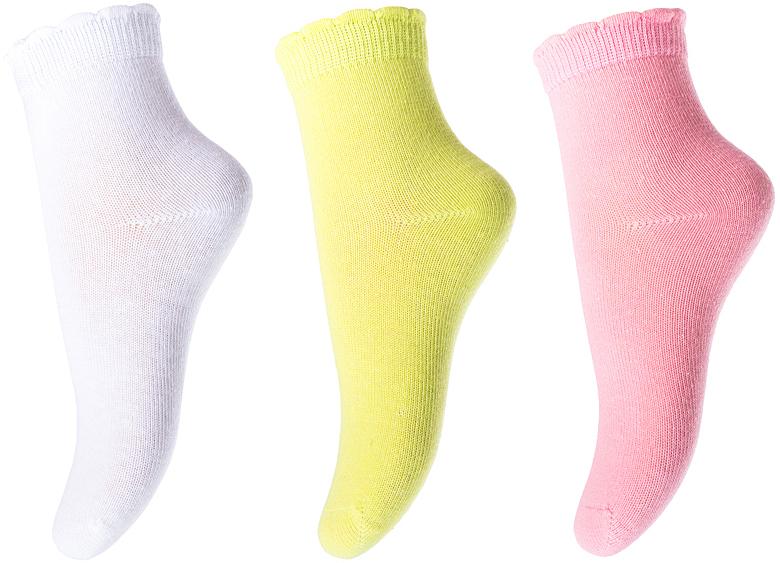 Носки для девочки PlayToday, цвет: белый, салатовый, розовый, 3 пары. 178090. Размер 11178090Носки PlayToday, изготовленные из высококачественного материала, прекрасно подойдут вашему ребенку. Эластичная резинка плотно облегает ножку ребенка, не сдавливая ее. Усиленная пятка и мысок обеспечивают надежность и долговечность.