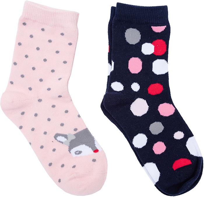 Носки для девочки PlayToday, цвет: синий, красный, 2 пары. 362036. Размер 18362036Носки PlayToday, изготовленные из высококачественного материала, прекрасно подойдут вашему ребенку. Эластичная резинка плотно облегает ножку ребенка, не сдавливая ее. Усиленная пятка и мысок обеспечивают надежность и долговечность.