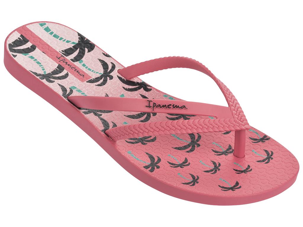 Сланцы женские Ipanema Bossa Print Fem, цвет: розовый. 25899. Размер 38 (37)25899-20791Стильные и очень легкие сланцы от Ipanema - придутся вам по душе. Верх модели выполнен из поливинилхлорида. Ремешки с перемычкой гарантируют надежную фиксацию изделия на ноге. Стелька украшена стильным рисунком. Верх изделия дополнен логотипом бренда. Рифление на верхней поверхности подошвы предотвращает выскальзывание ноги. Рельефное основание подошвы обеспечивает уверенное сцепление с любой поверхностью. Удобные сланцы прекрасно подойдут для похода в бассейн или на пляж.