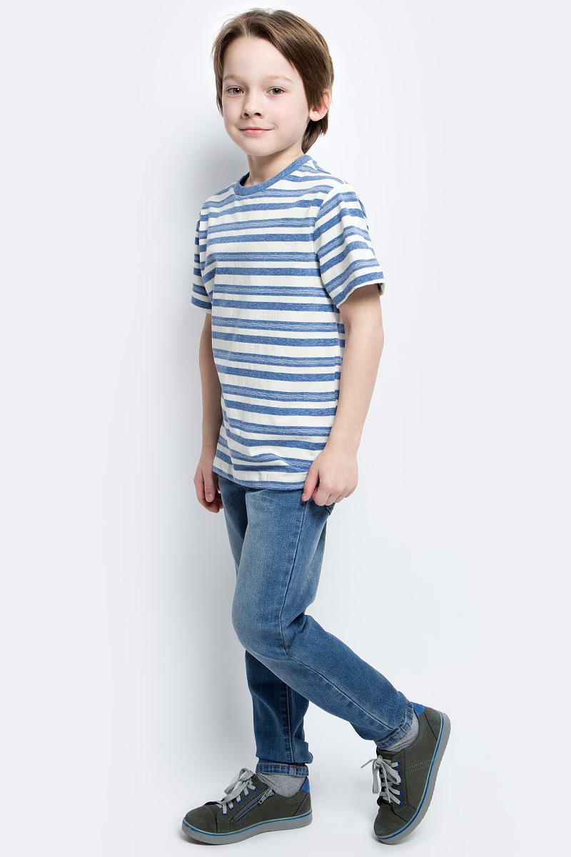 Футболка для мальчика Sela, цвет: синий. Ts-811/1069-7121. Размер 116, 6 летTs-811/1069-7121Стильная футболка для мальчика Sela изготовлена из натурального хлопка и оформлена принтом в полоску. Воротник дополнен мягкой трикотажной резинкой.Яркий цвет модели позволяет создавать модные образы.