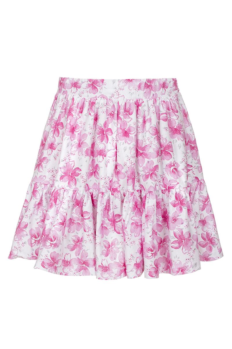 ЮбкаSJA27050M77Юбка для девочки M&D исполнена из 100% натурального хлопка. Модель имеет мягкую резинку, надежно фиксирующую юбку и не сдавливающую животик ребенка. Ткань оформлена ярким принтом в цветочек. Модная и не стесняющая движений юбка обязательно понравится ребенку и подарит ему комфорт.