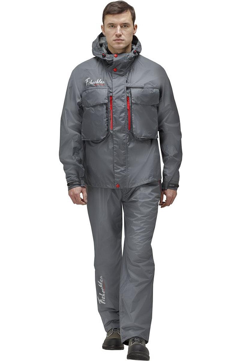 Куртка рыболовная95934-911Практичная и надежная куртка FisherMan Nova Tour выполнена специально для рыбалки из качественного полиэстера. Куртка с воротником-стойкой и капюшоном застегивается на пластиковую молнию и планку с кнопками. Изделие дополнено карманами. Такая куртка, пожалуй, лучшая защита от непогоды.