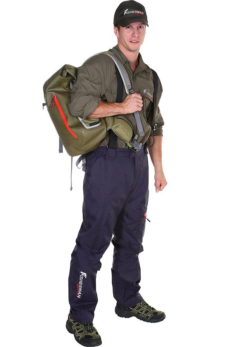 Штаны рыболовные95429-924Наши легендарные брюки стали еще технологичнее и круче! Брюки сшиты из специальной износостойкой, влагоотталкивающей ткани покрытой мембраной 10000/10000, швы проклеены. Лямки-бретельки, которые можно снять, карманы для необходимых в рыбалке мелочей с влагозащищенной молнией, пояс и спинка с подкладкой из микрофлиса для комфорта и конечно же, анатомический крой, благодаря которому брюки идеально сидят и не стесняют движения!