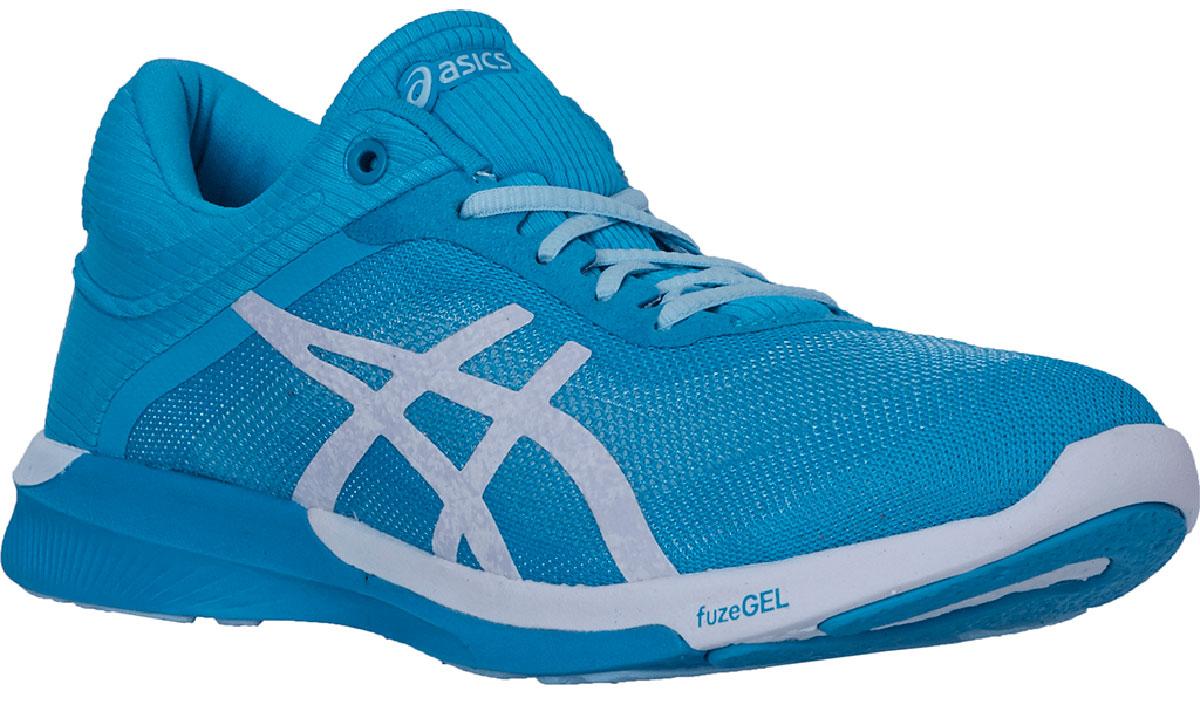 Кроссовки для бега женские Asics Fuzex Rush, цвет: голубой. T786N-3901. Размер 7 (36,5)T786N-3901Кроссовки Asics Fuzex Rush - оптимальное сочетание легкости и удобства с амортизацией. Эти многофункциональные кроссовки можно использовать в качестве удобного повседневного варианта для тех, кто ведет активный образ жизни, поскольку кроссовки обеспечат дополнительную поддержку стопы. Они отлично подходят для коротких пробежек и продолжительных забегов. В этих беговых кроссовках используется уникальная технология fuzeGEL, представляющая собой сочетание двух революционных технологий – свойств геля ASICS GEL и подошвы из сверхлегкой пены. В результате мы получили облегченные кроссовки, в которых проще бежать, и которые при этом обеспечивают оптимальную амортизацию. У кроссовок fuzeX 2 менее высокий подъем стопы, что означает, что они предлагают непревзойденную систему реагирования на каждое движение, а это, в свою очередь, позволяет лучше чувствовать землю под ногами.