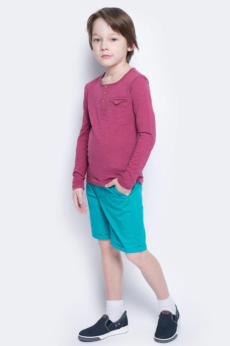 Шорты для мальчика Button Blue Main, цвет: бирюзовый. 117BBBC60022800. Размер 122, 7 лет117BBBC60022800Яркие шорты - залог стильного образа для каждого дня лета. Отличные шорты из хлопка с эластаном гарантируют прекрасный внешний вид, комфорт и свободу движений. В компании с любой майкой, футболкой, рубашкой шорты составят достойный летний комплект. Если вы хотите купить недорогие детские шорты, не сомневаясь в их качестве, высоких потребительских свойствах и соответствии модным трендам, шорты для мальчика от Button Blue - лучший вариант!