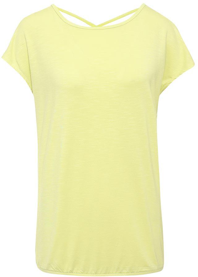 ФутболкаTs-111/1241-7234Стильная женская футболка Sela станет отличным дополнением к гардеробу каждой модницы. Модель свободного кроя с вырезом-лодочкой и короткими цельнокроеными рукавами изготовлена из качественного трикотажа и собрана на резинку снизу. Спинка с глубоким вырезом дополнена двумя перекрещивающимися текстильными полосками. Воротник дополнен мягкой эластичной бейкой. Универсальный цвет позволяет сочетать модель с любой одеждой.
