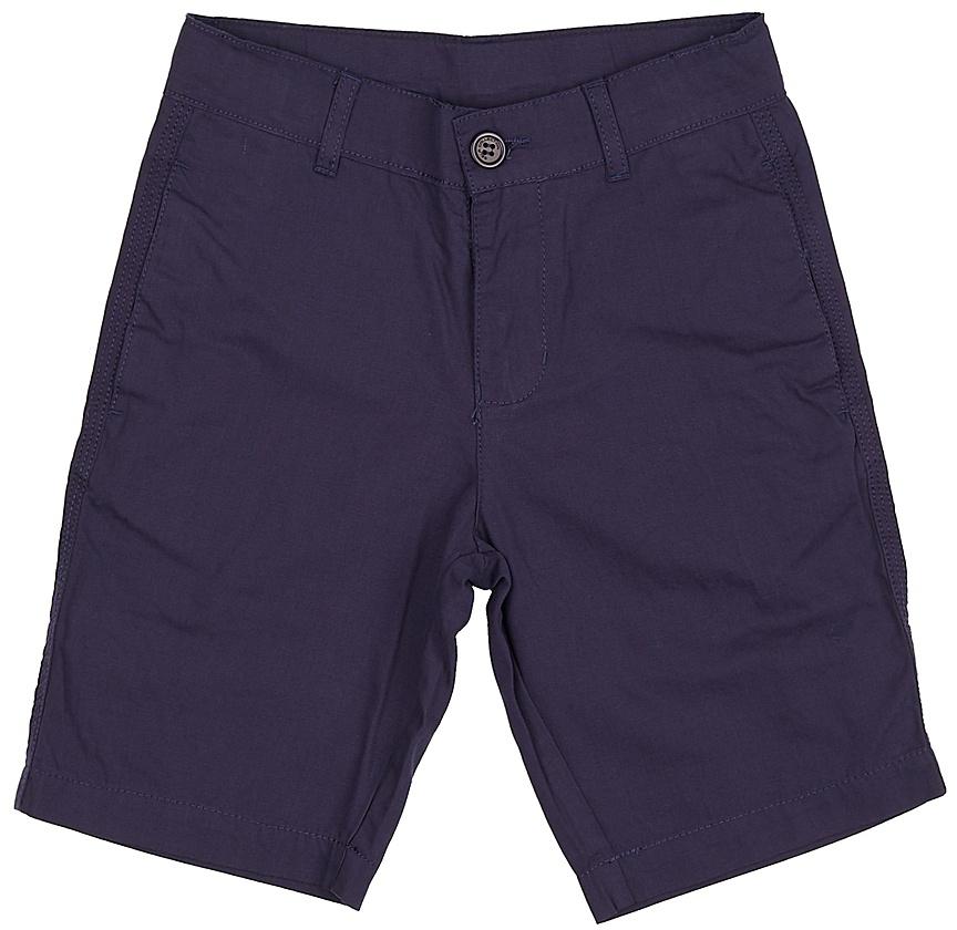 Шорты для мальчика Sela, цвет: темно-синий. SH-815/340-7224. Размер 134, 9 летSH-815/340-7224Стильные шорты для мальчика Sela, изготовленные из натурального хлопка, станут отличным дополнением гардероба в летний период. Шорты прямого кроя до колен и стандартной посадки на талии застегиваются на застежку-молнию и пуговицу. На поясе имеются шлевки для ремня. Спереди и сзади модель дополнена двумя прорезными карманами.