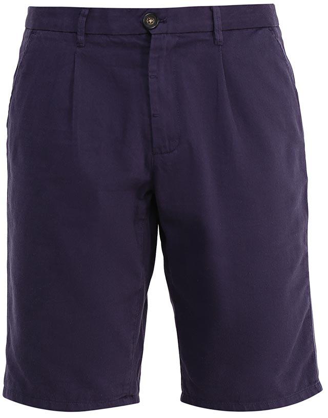 Шорты мужские Sela, цвет: темно-синий. SH-215/531-7224. Размер 50SH-215/531-7224Стильные мужские шорты Sela, изготовленные из качественного хлопкового материала, станут отличным дополнением гардероба в летний период. Шорты прямого кроя с опцией подгибки и стандартной посадки на талии застегиваются на застежку-молнию и пуговицу. На поясе имеются шлевки для ремня. Модель дополнена двумя втачными карманами спереди и двумя прорезными карманами на пуговицах сзади.