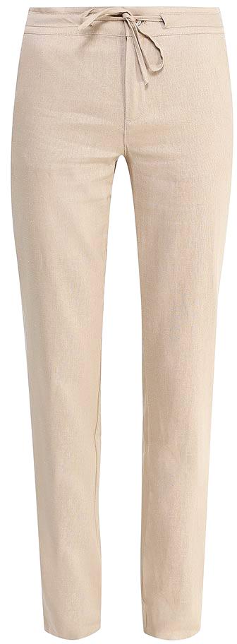 Брюки женские Sela, цвет: бежевый. P-115/752-7244. Размер 50P-115/752-7244Стильные брюкиSela, изготовленные изо льна с добавлением хлопка, станут отличным дополнением гардероба в летний период. Брюки полуприлегающего кроя и стандартной посадки на талии застегиваются на застежку-молнию и пуговицу. Пояс дополнительно регулируется тесьмой. Модель дополнена двумя втачными карманами спереди и двумя прорезными карманами сзади.