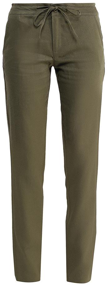 Брюки женские Sela, цвет: оливковый. P-115/752-7244. Размер 52P-115/752-7244Стильные брюкиSela, изготовленные изо льна с добавлением хлопка, станут отличным дополнением гардероба в летний период. Брюки полуприлегающего кроя и стандартной посадки на талии застегиваются на застежку-молнию и пуговицу. Пояс дополнительно регулируется тесьмой. Модель дополнена двумя втачными карманами спереди и двумя прорезными карманами сзади.