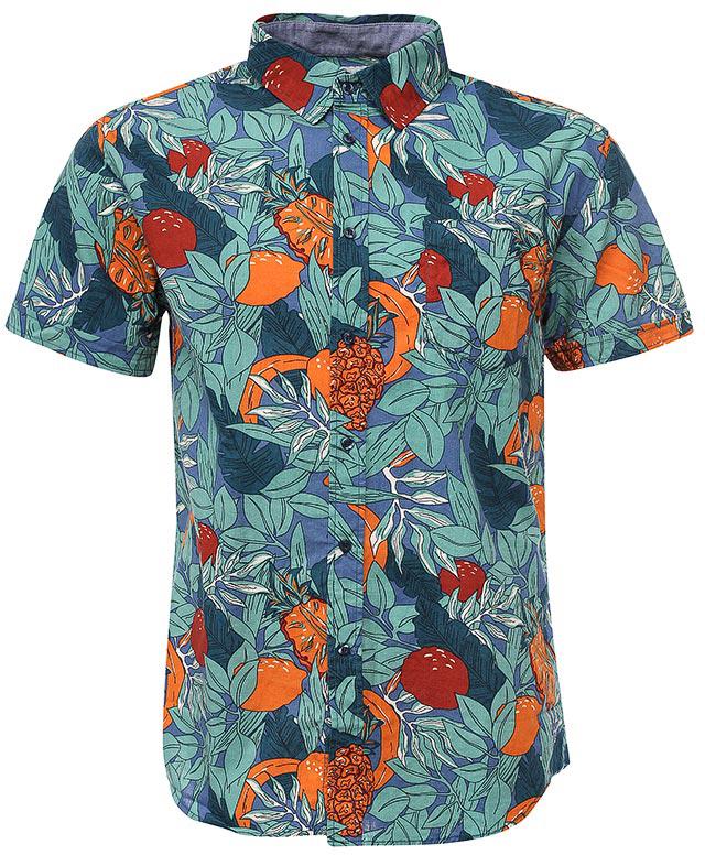 РубашкаHs-212/757-7224Стильная мужская рубашка Sela выполнена из натурального хлопка и оформлена ярким принтом. Модель прямого кроя с короткими рукавами и отложным воротничком застегивается на пуговицы и дополнена накладным карманом на груди. Яркий цвет модели позволяет создавать стильные летние образы.