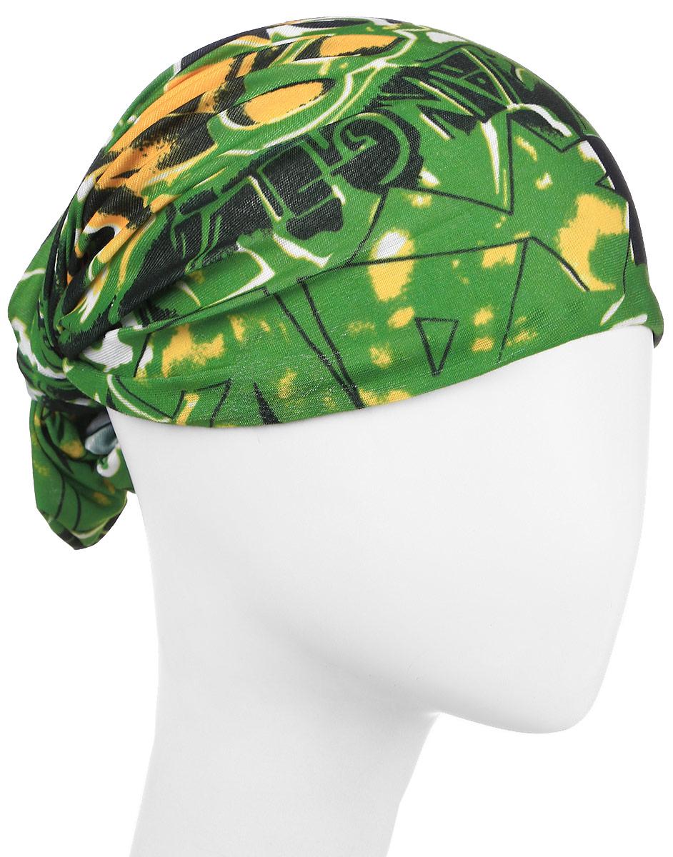 Повязка на голову Maxval, цвет: зеленый. PoY100224. Размер универсальныйPoY100224Повязка на голову Maxval выполнена из хлопка с эластаном в яркой цветовой гамме. Размер универсальный. Возможны различные варианты носки.