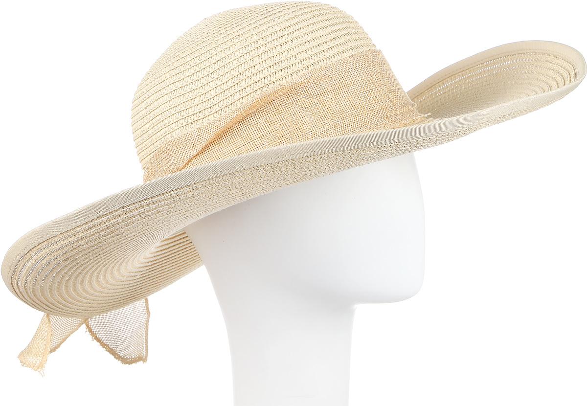 ШляпаHtW100289Шляпа с широкими полями и бантом.