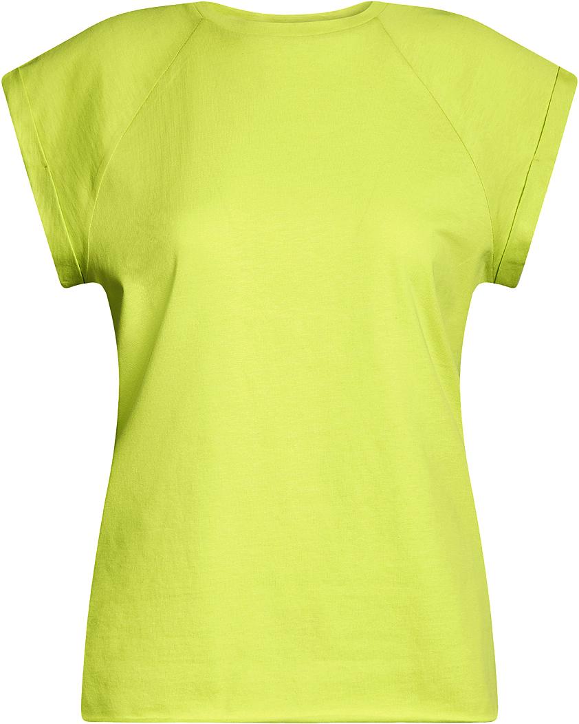 Футболка женская oodji Ultra, цвет: салатовый. 14707001B/46154/6A00N. Размер XL (50)14707001B/46154/6A00NБазовая футболка свободного кроя с круглым вырезом горловины и короткими рукавами-реглан выполнена из натурального хлопка.