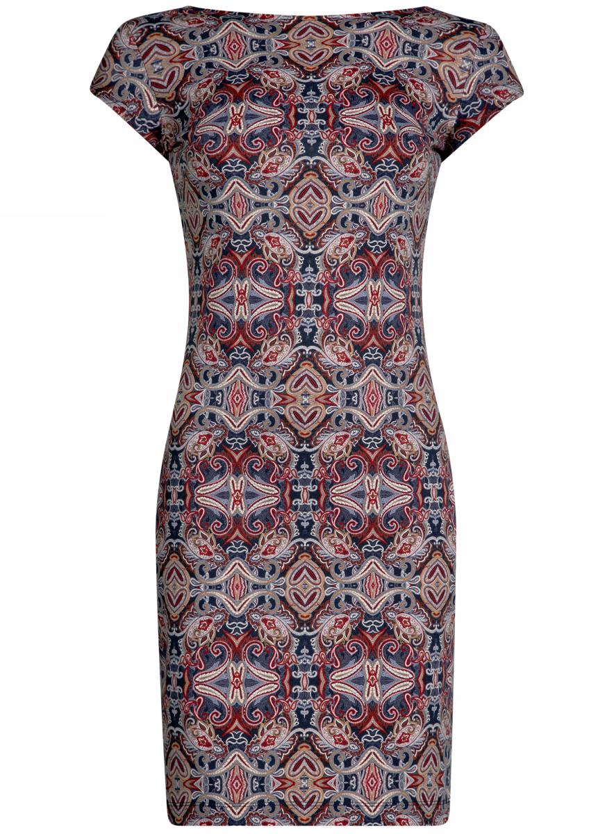 Платье24001114-1M/37809/2949EПлатье облегающего силуэта с вырезом на спине