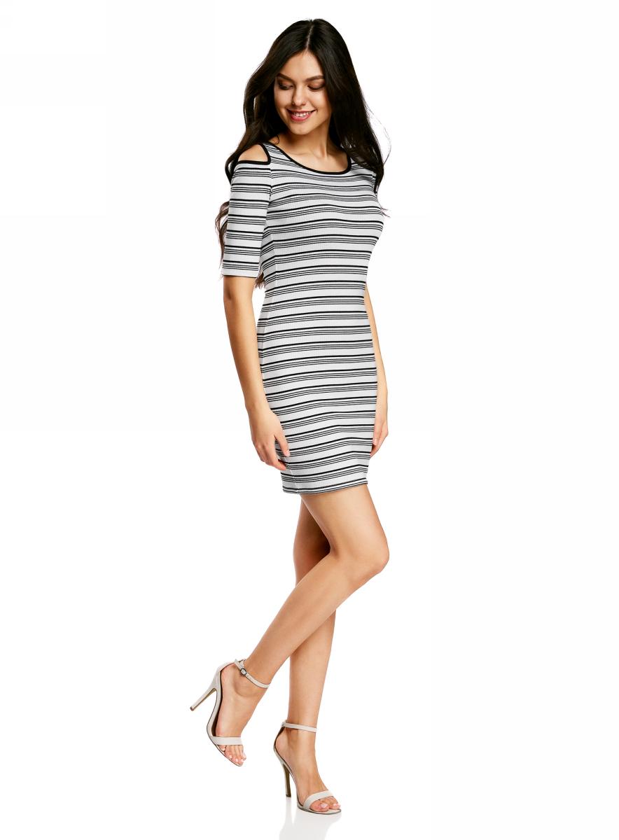 Платье14011018/46720/1029SПлатье трикотажное с открытыми плечами