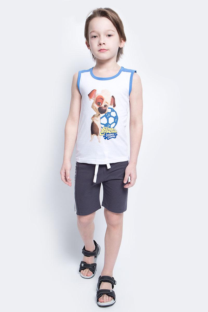 Шорты10В00070300Удобные шорты для мальчика Modniy Juk MJ Soccer идеально подойдут вашему маленькому моднику. Изготовленные из хлопка и полиэстера, они не сковывают движения, сохраняют тепло, отводят влагу от тела и позволяют коже дышать, обеспечивая наибольший комфорт. Шорты полуприлегающего силуэта имеют широкую эластичную резинку на поясе, которая надежно фиксирует изделие и не сдавливает животик малыша. Объем талии регулируется при помощи шнурка-кулиски. Шорты оформлены контрастной надписью MJ Soccer на брючине. Практичные и стильные шорты идеально подойдут вашему малышу, а модная расцветка и высококачественный материал позволят ему комфортно чувствовать себя в течение дня и всегда оставаться в центре внимания!