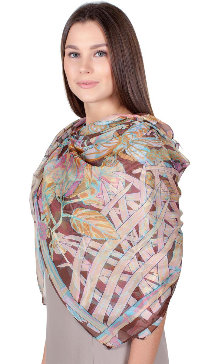 ПлатокHL-11701-30Яркий платок Sophie Ramage изготовлен из шелка и полиэстера. Модель оформлена оригинальным принтом. Изделия Sophie Ramage приятные на ощупь и подойдут к любому стилю.