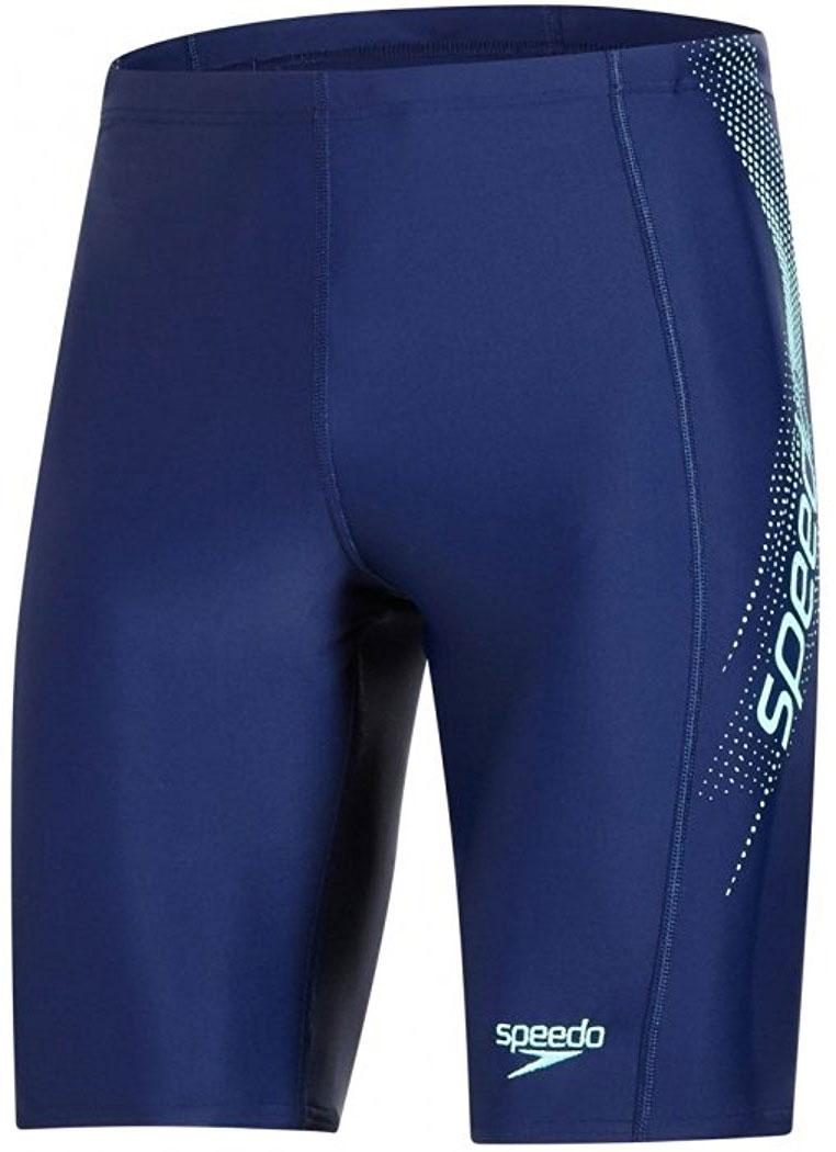 Плавки-шорты мужские Speedo Sports Logo Jammer, цвет: синий, зеленый. 8-09529B474-B474. Размер 40 (50/52)8-09529B474-B474Спортивные удлиненные плавки-шорты Speedo Sports Logo Jammer с контрастным лого принтом предназначены для тренировок в бассейне. Плавки имеют пояс на мягкой эластичной резинке и удобно садятся по фигуре, обеспечивая комфорт при любых видах активности в воде.Изделие выполнено с использованием технологии Endurance 10, благодаря чему используемый материал в 10 раз более устойчив к разрушающему воздействию хлора, чем обычные ткани с эластаном и спандексом.