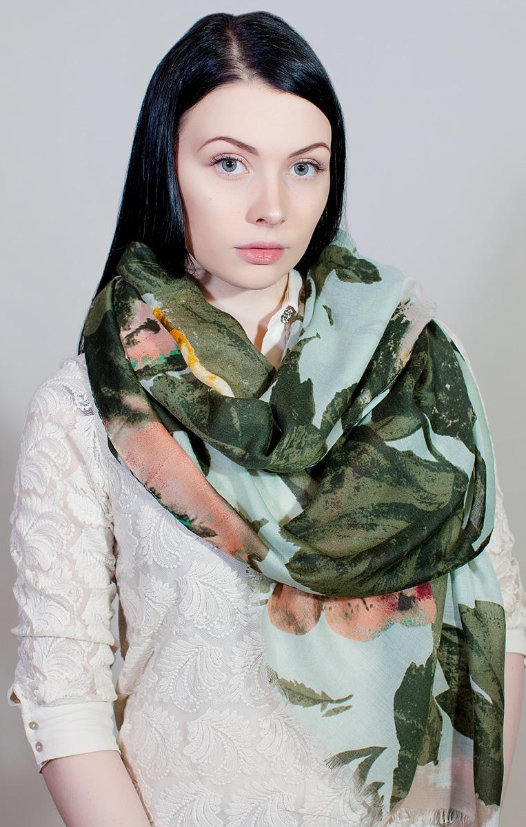 Палантин Laura Milano, цвет: зеленый. YY-11731-9. Размер 85 см х 180 смYY-11731-9Палантин Laura Milano выполнен из высококачественного материала и оформлен стильным принтом. Изделие приятно на ощупь и подойдет к любому стилю.