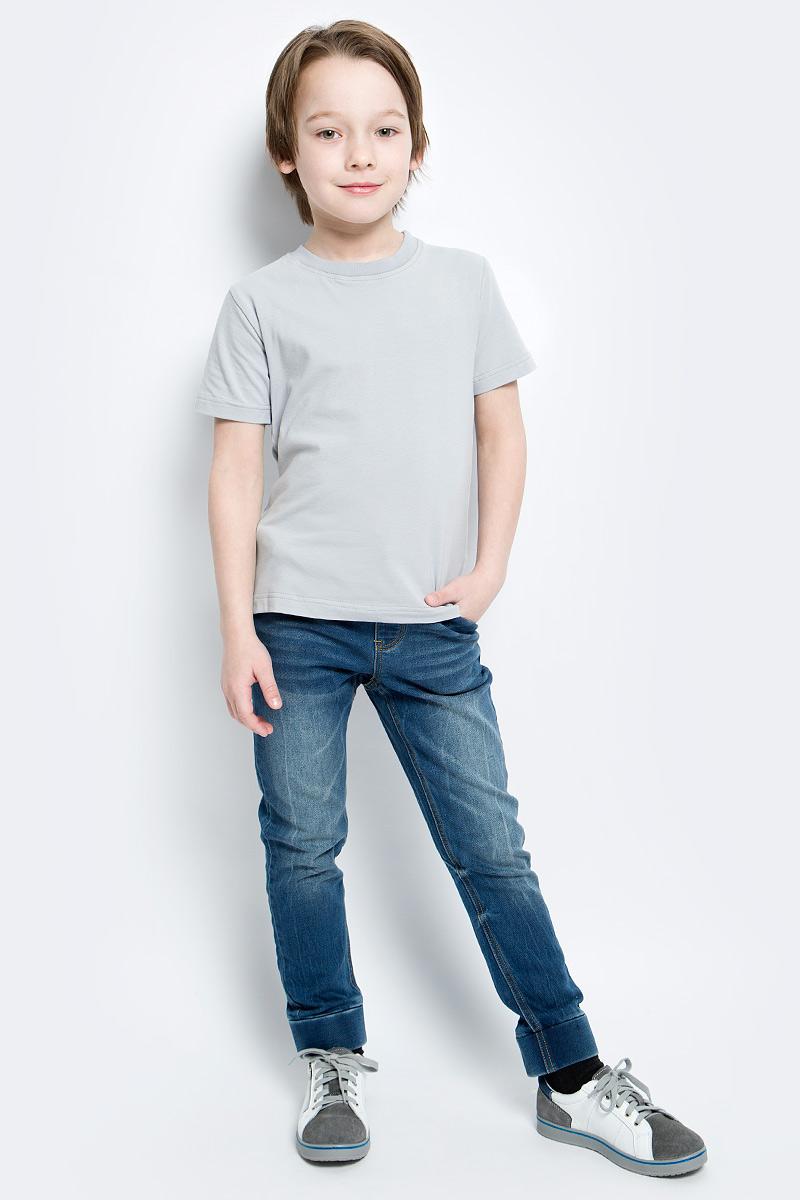Футболка14943Футболка для мальчика КотМарКот изготовлена из высококачественного эластичного хлопка. Модель с короткими рукавами и круглым вырезом горловины имеет однотонную расцветку. Горловина дополнена эластичной трикотажной вставкой.