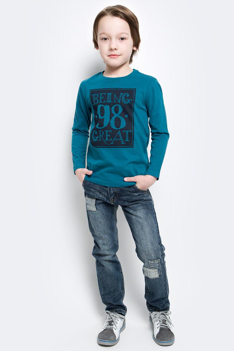 Футболка с длинным рукавом216BBBC12040700Лонгслив - основная составляющая модного детского функционального гардероба. Модель с эффектным принтом - украшение гардероба! Лонгслив сделает повседневный гардероб свежим, ярким, привлекательным!