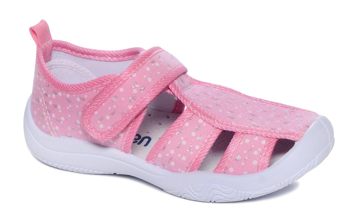 Туфли для девочки Mursu, цвет: розовый. 101232. Размер 29101232Материал верха: хлопок; Материал подкладки: хлопок; Материал подошвы: ПВХ; Материал стельки: натуральная кожа.