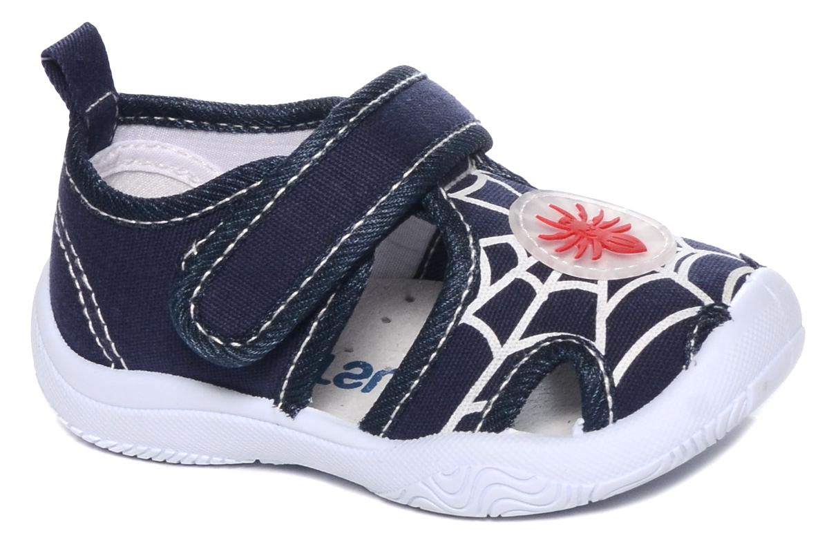 Туфли для мальчика Mursu, цвет: темно-синий. 101226. Размер 20101226Туфли для мальчика Mursu выполнены из текстиля, оформленного оригинальными рисунками. Удобная застежка-липучка обеспечивает практичность и комфортную фиксацию модели на ноге. Рифление на подошве гарантирует идеальное сцепление с любой поверхностью. На заднике предусмотрена петелька для удобства обувания.