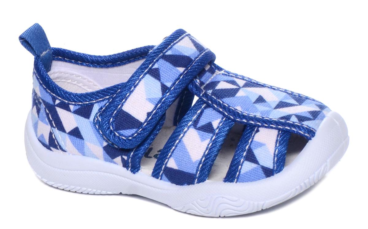 Туфли для мальчика Mursu, цвет: голубой, синий, белый. 101224. Размер 23101224Туфли для мальчика Mursu выполнены из текстиля, оформленного оригинальными рисунками. Удобная застежка-липучка обеспечивает практичность и комфортную фиксацию модели на ноге. Рифление на подошве гарантирует идеальное сцепление с любой поверхностью. На заднике предусмотрена петелька для удобства обувания.