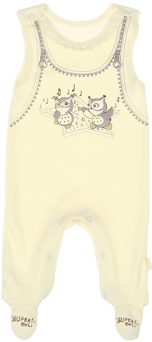 Ползунки с грудкой для девочки СовенокЯ Совята, цвет: бежевый. 2-369. Размер 622-369 БПолзунки с грудкой СовенокЯ изготовлены из натурального хлопка, благодаря чему они необычайно мягкие, не раздражают нежную кожу ребенка и хорошо вентилируются. Удобные кнопки на лямках и на ножках помогают легко переодеть младенца и сменить подгузник. Ползунки выполнены с закрытыми ножками и оформлены оригинальным термопринтом. Благодаря мягкому эластичному поясу, ползунки не сдавливают животик ребенка и не сползают.