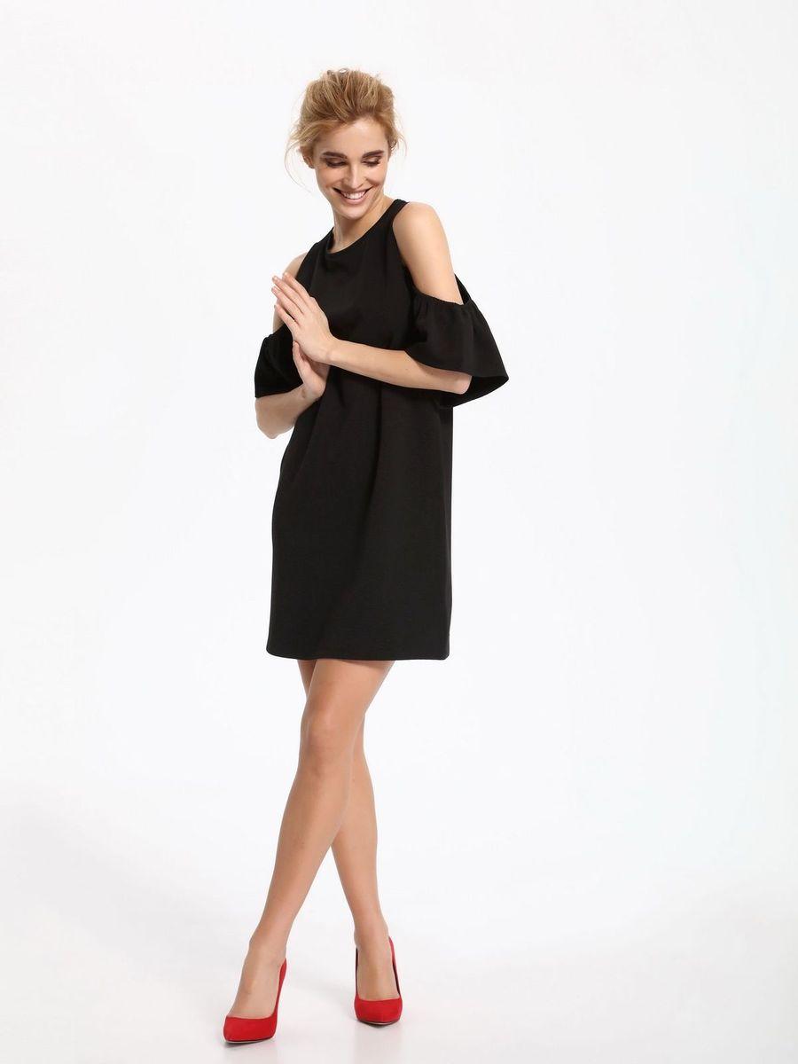 ПлатьеSSU1861CAПлатье Top Secret выполнено из полиэстера и эластана. Модель с круглым вырезом горловины и короткими рукавами.