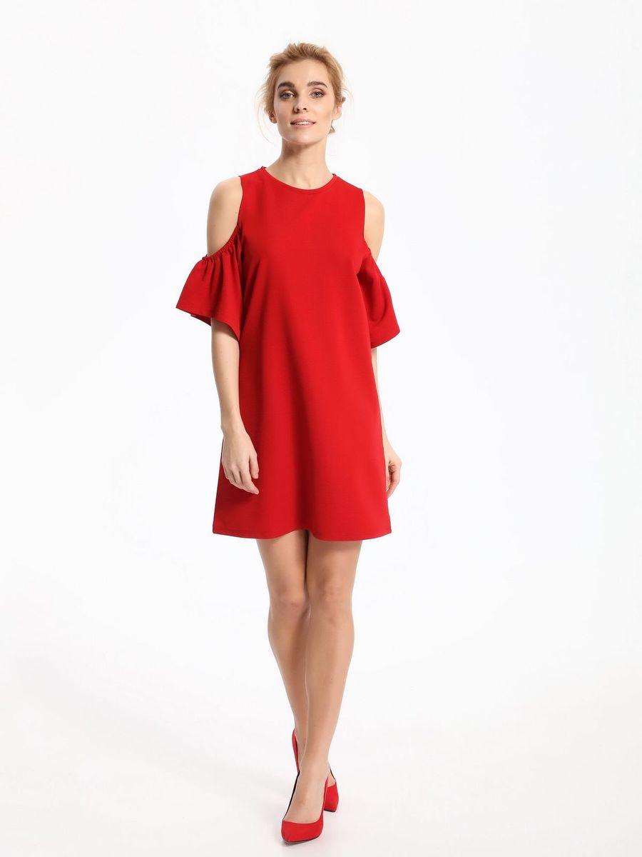 ПлатьеSSU1860CEПлатье Top Secret выполнено из полиэстера и эластана. Модель с круглым вырезом горловины и короткими рукавами.