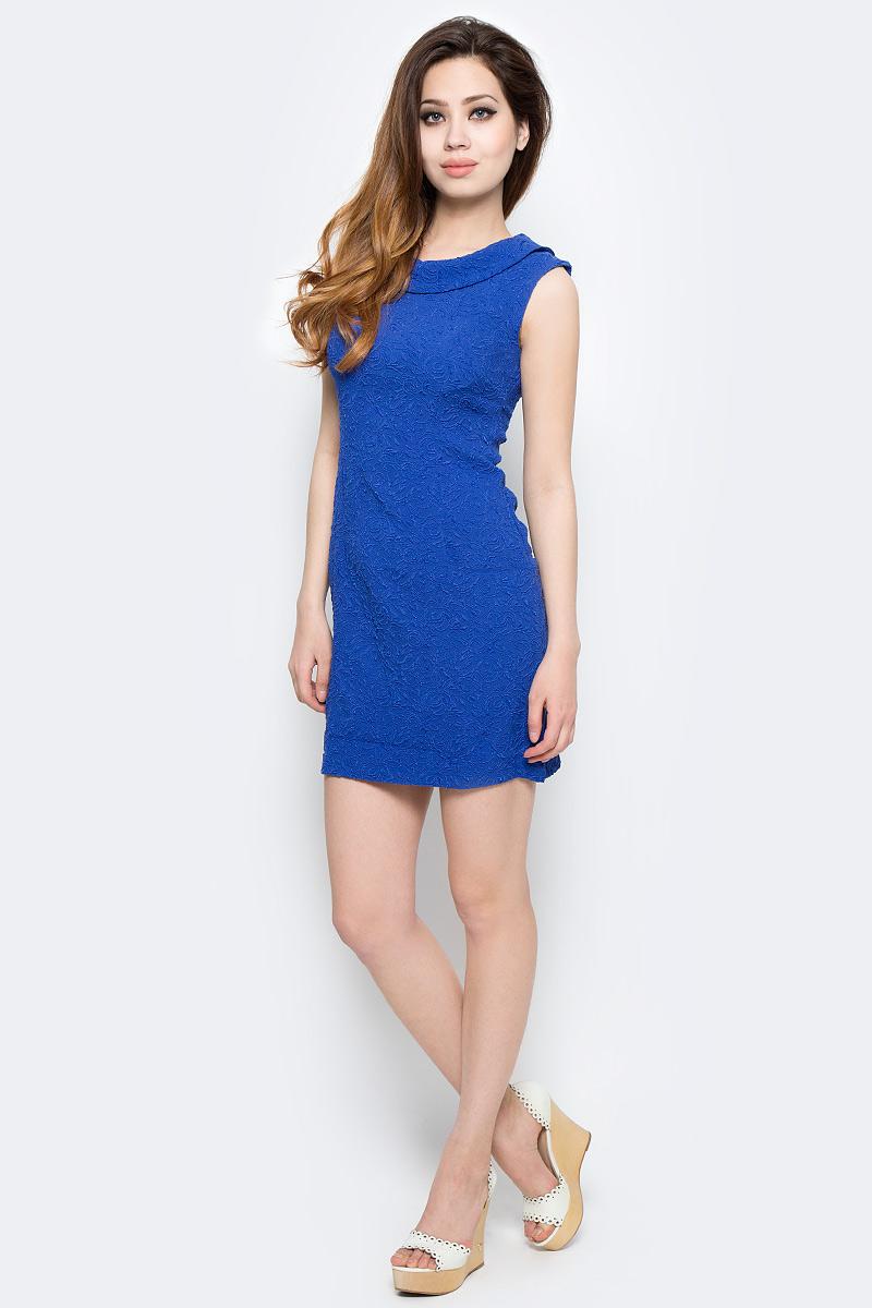Платье Milton, цвет: синий. WD-2485F. Размер 44WD-2485FПлатье прилегающего силуэта, без рукавов, с круглым вырезом горловины.