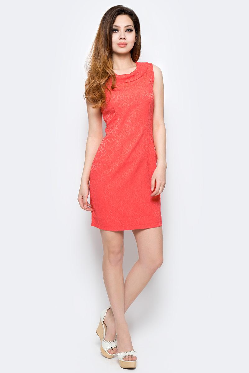 Платье Milton, цвет: оранжевый. WD-2485F. Размер 42WD-2485FПлатье прилегающего силуэта, без рукавов, с круглым вырезом горловины.